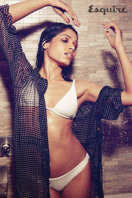 Freida Pinto exclusive photo shoot for Esquire