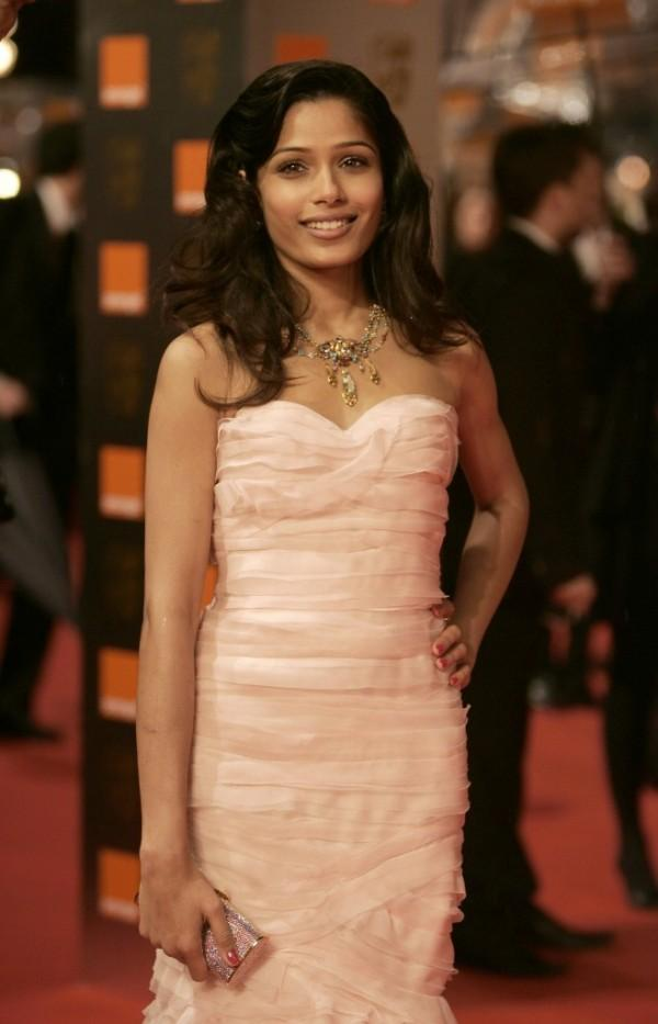 Freida Pinto in Pink Dress