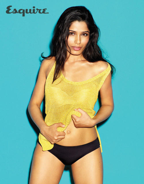 Freida Pinto latest photo shoot for Esquire