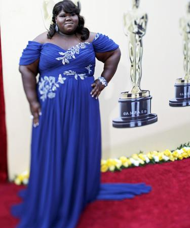 Gabourey Sidibe from Precious at Oscars 2010