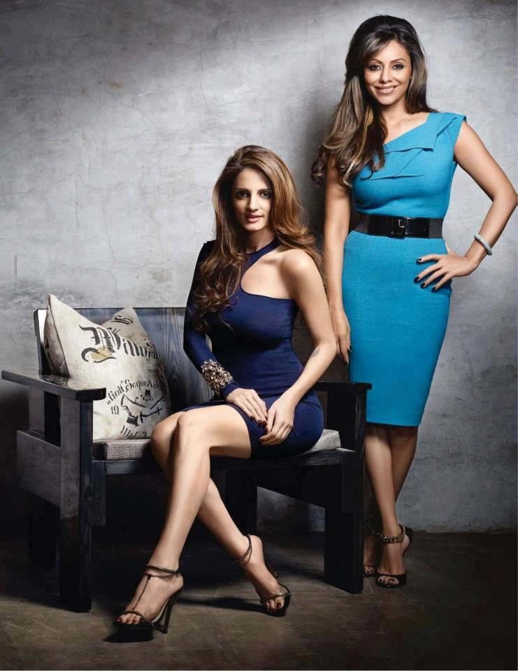 Gauri Khan and Sussanne Roshan On Vogue India April 2012