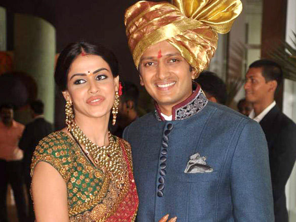 Genelia,Ritesh Deshmukh poses to photo shoot