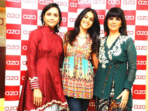 Genelia ,Neeta,Dr. Alka Nishar at Neeta Lulla's designs showcase at Aza