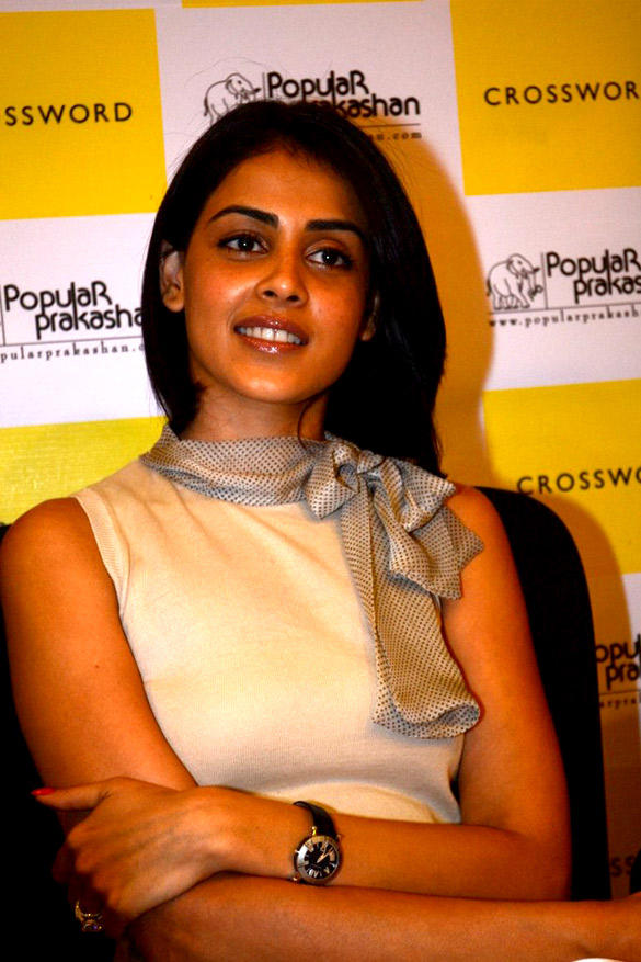 Genelia D'Souza at Launch of The Book Imperfect Mr. Right