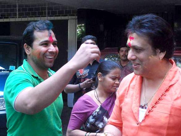 Govinda Celebrates Holi with Fans
