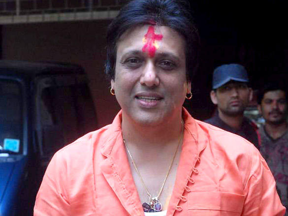 Govinda celebrating Holi Festival at His Buidling