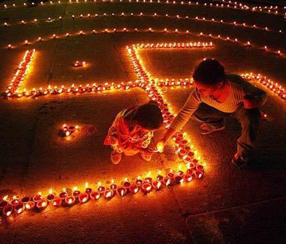 Happy Diwali Swastika