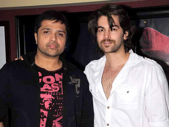 Himesh and Neil Nitin poses to photo shoot