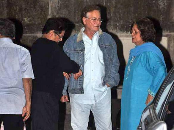 Hiroo Johar,Salim Khan at Salim Khan's screening of Agneepath