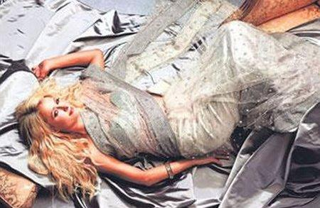 Hot Model Paris Hilton In Transparent Saree Photo Shoot