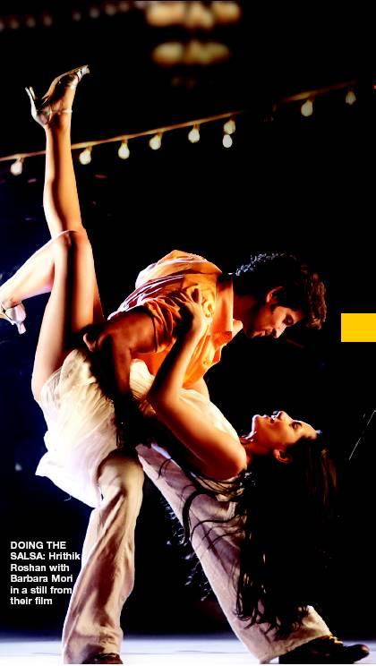 Hrithik and Barbara Mori Sexy Dance Pic In Kites