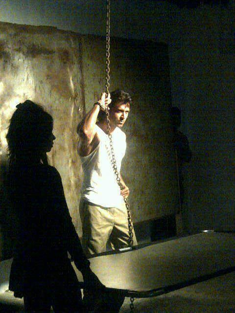 Hrithik on The Sets of an Ad