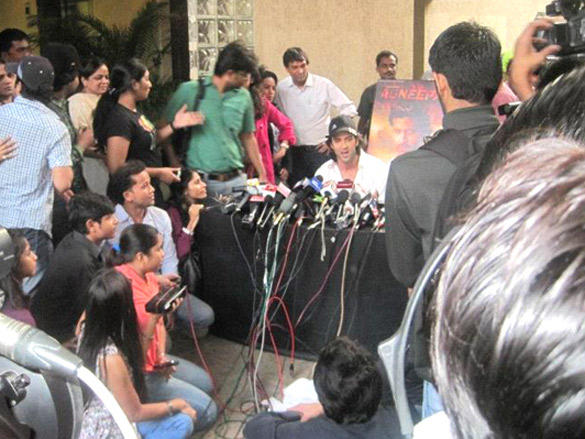 Hrithik Roshan talks to the press on his B'day