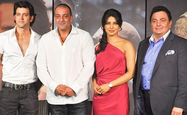 Hritik, Sanjay, Priynka and Rishi Kapoor pose together for Agneepath Promo Event