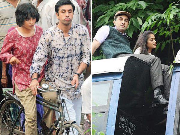 Ileana,Ranbir and Priyanka On The Set of Barfi