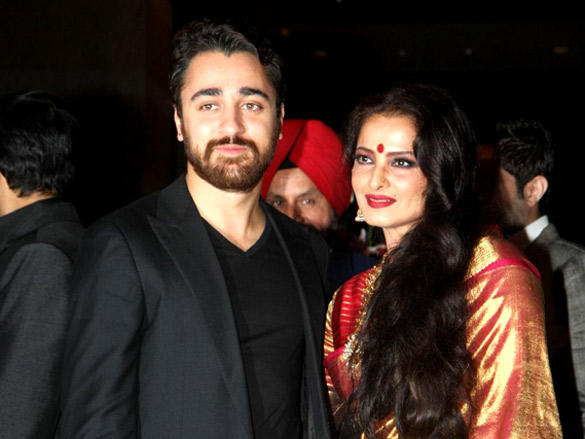 Imran Khan,Rekha at Riteish and Genelia's reception