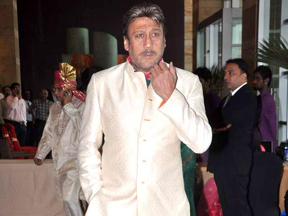Jackie Shroff at Dheeraj Deshmukh wedding reception