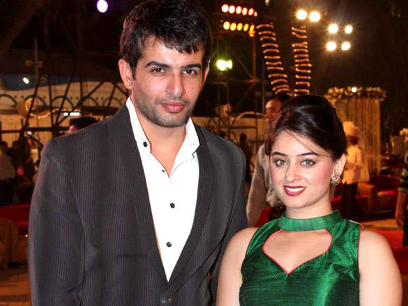 Jay Bhanushali with wife at Vikas Kalantri's wedding reception