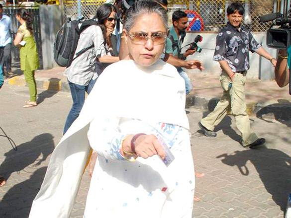 Jaya Bachchan cast her votes in Maharashtra civic polls Mumbai