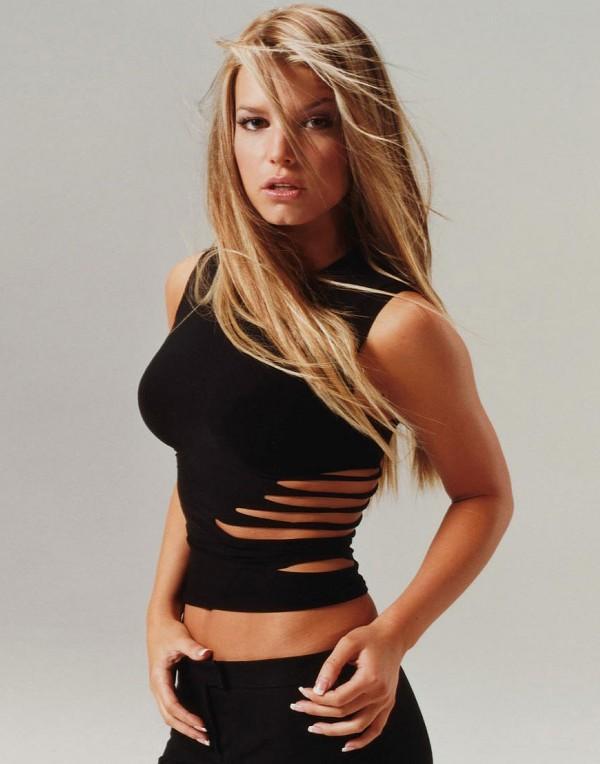 Jessica Simpson Hot Black Dress Still