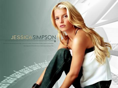 Jessica Simpson Hot Sizzling Sexy Look Wallpaper