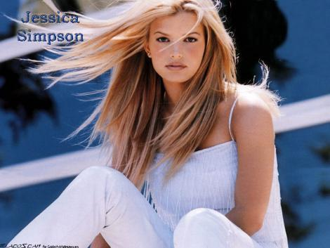 Jessica Simpson Stunning Face Wallpaper