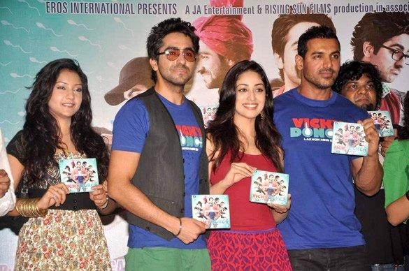 John,Yami and Ayushman Launches Vicky Donor Music
