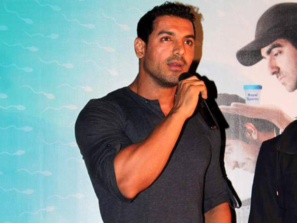 John Abraham at First Look Launch of Vicky Donor