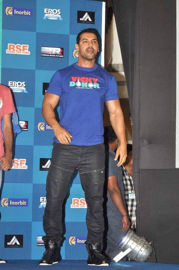 John Abraham at Vicky Donor Audio Launch