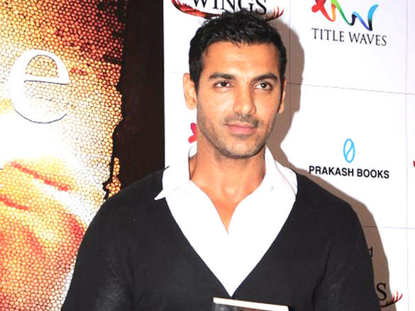 John Abraham at the book launch of Bubble Of Time
