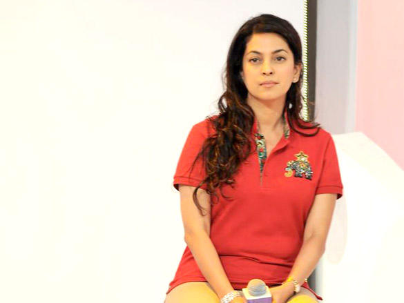 Juhi Chawla at Kolkata Knight Riders new logo