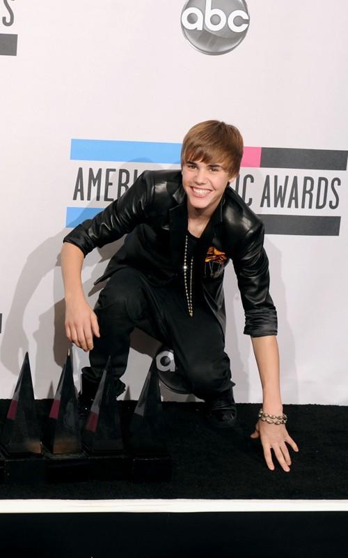 Justin Bieber at the American Music Award