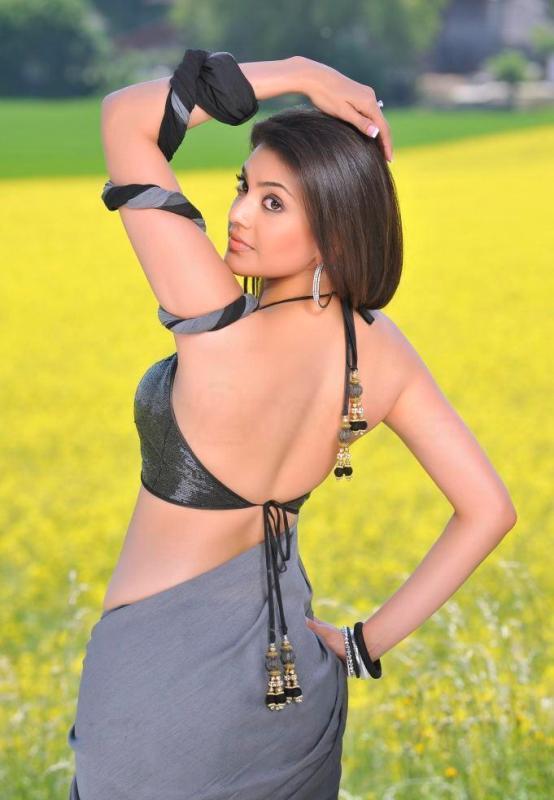 Kajal Agarwal Sexy Blouse Stills in Veera Movie