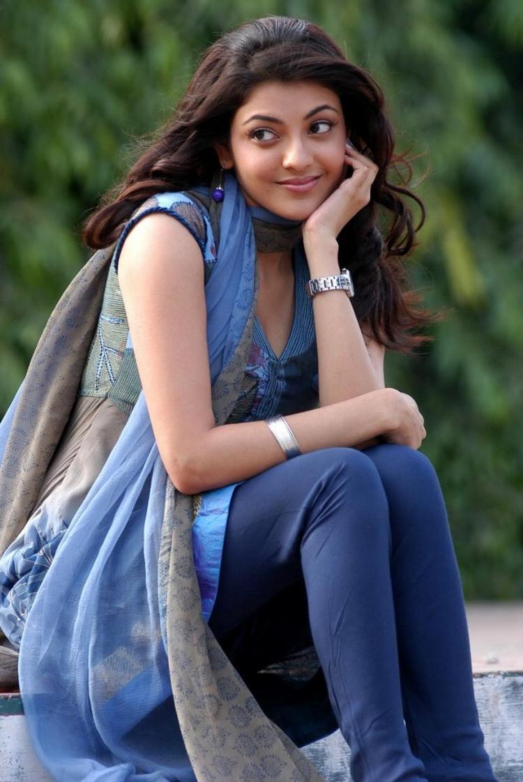 Kajal Agarwal Sweet Pose Photo Shoot