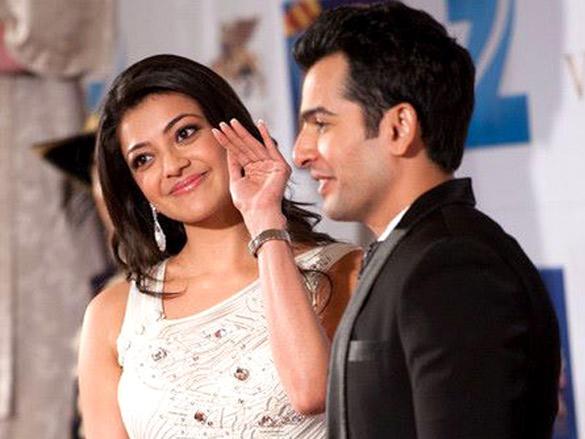Kajal Aggarwal on stage at Zee Cine Awards 2012