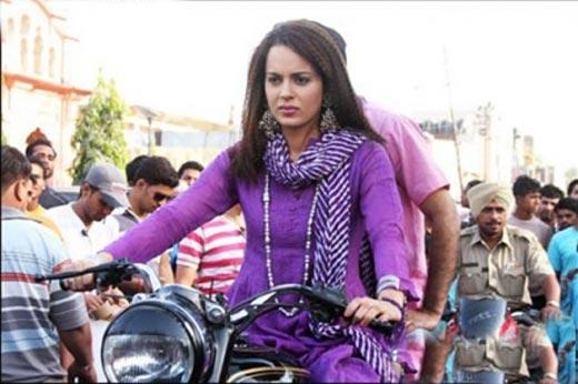 Kangana Ranaut Bike Hot Still
