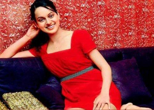 Kangana Ranaut Red Dress Beauty Smile Pic