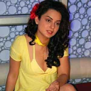 Kangana Ranaut Sexy Yellow Dress Still
