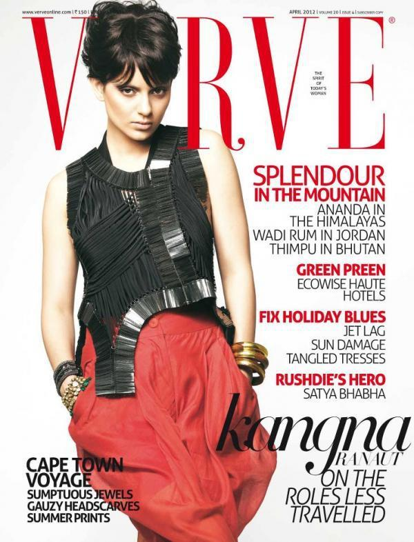 Kangana Ranaut on The Cover Of Verve India April 2012