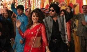Kangana Ranuat Red Saree Dance Still In Tanu Weds Manu