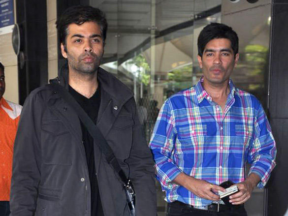 Karan Johar,Manish Malhotra At The Airport