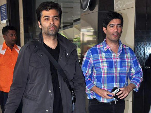 Karan Johar,Manish Malhotra Snapped at The Airport