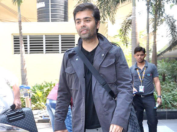 Karan Johar Snapped at The Airport