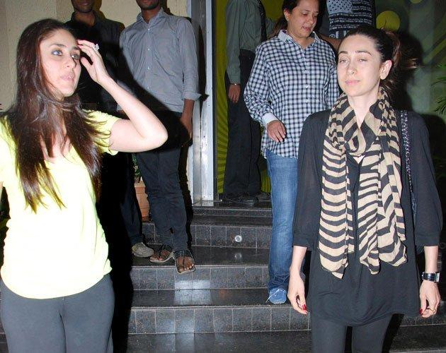 Kareena,Karishma Kapoor and Saif Ali Khan Snapped to Watch Agent Vinod