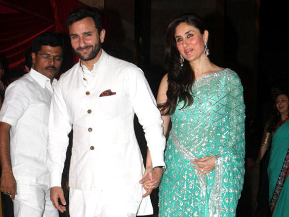 Kareena,Saif Ali Khan at Riteish and Genelia's reception