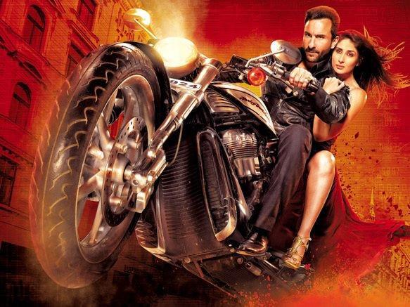 Kareena Kapoor,Saif Ali Khan Agent Vinod Bike Still
