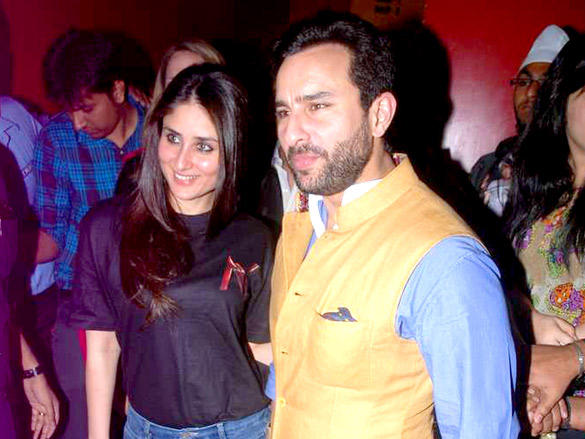 Kareena Kapoor,Saif Ali Khan at Agent Vinod Screening at PVR