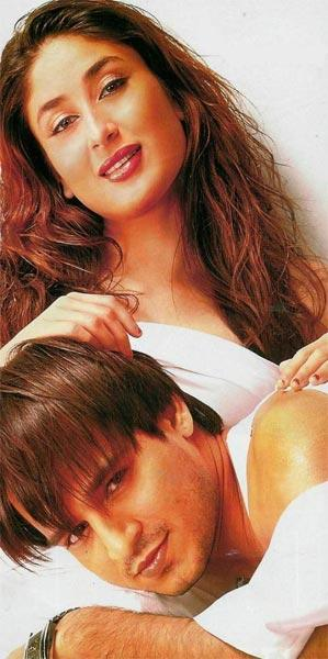 Kareena and Vivek Romantic Look Photo