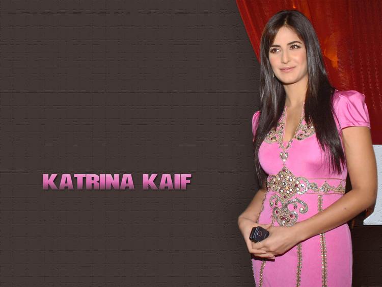 Katrina Kaif Cute Pick Dress Wallpaper