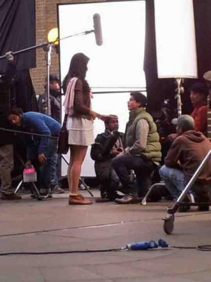 Katrina Kaif and Shahrukh Khan On The Sets of London Ishq